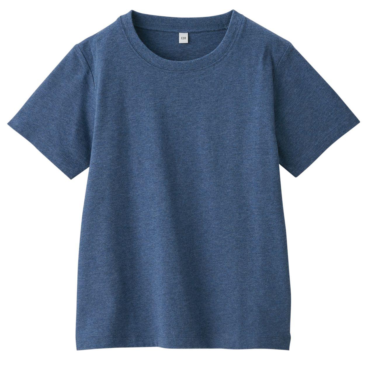 インド綿天竺編み半袖Tシャツ(キッズ)