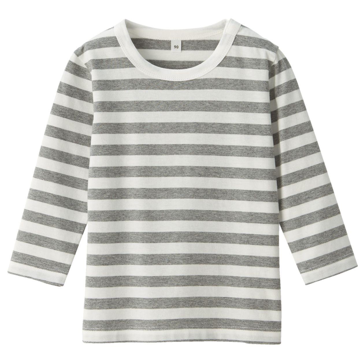 毎日のこども服オーガニックコットンしましま長袖Tシャツ(ベビー)