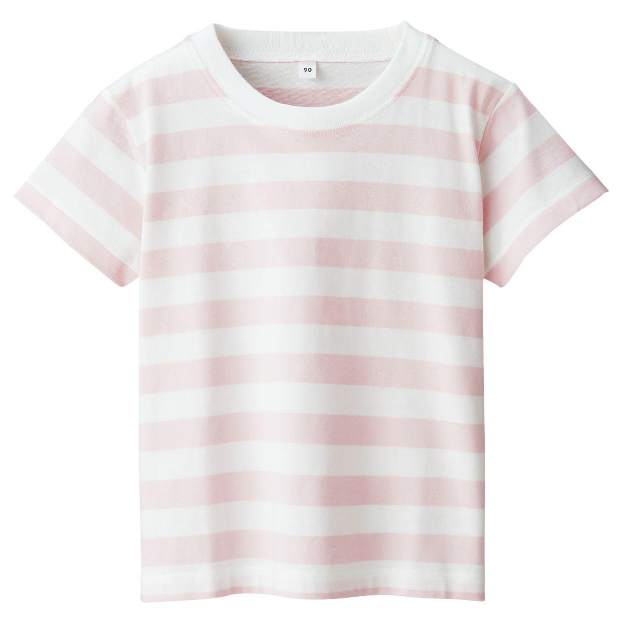インド綿天竺編みボーダー半袖Tシャツ(ベビー)