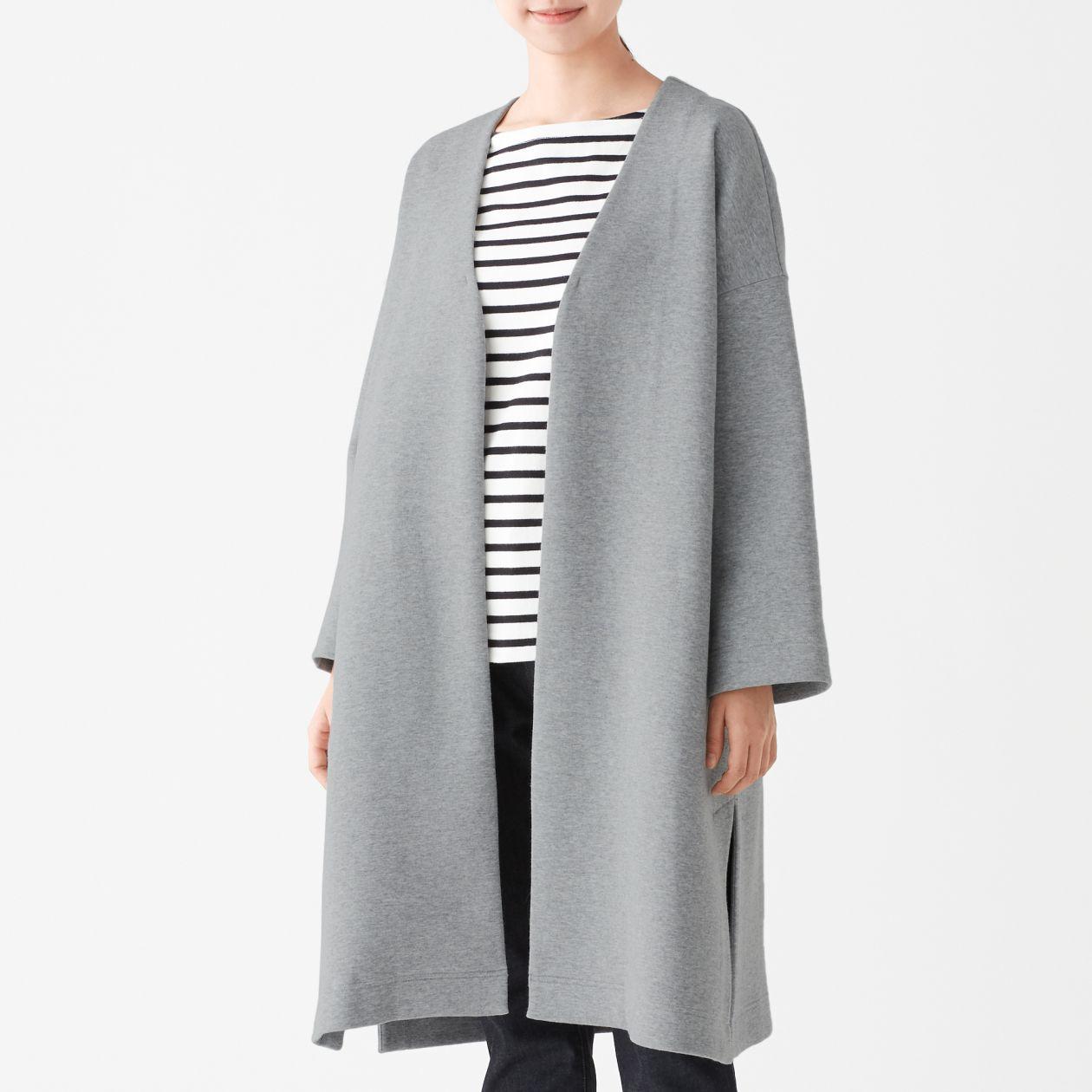 二重編みコート