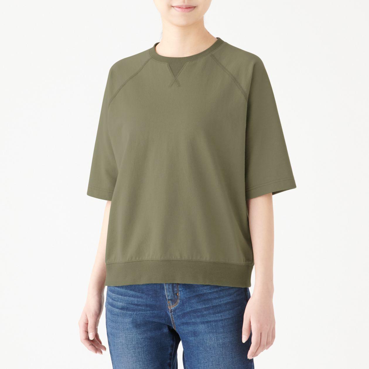 26c6006384c3e ミニ裏毛ワイドTシャツ(五分袖)婦人XS~S・白 通販 | 無印良品