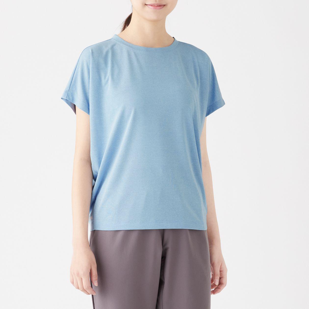 吸汗速乾UVカットフレンチスリーブTシャツ