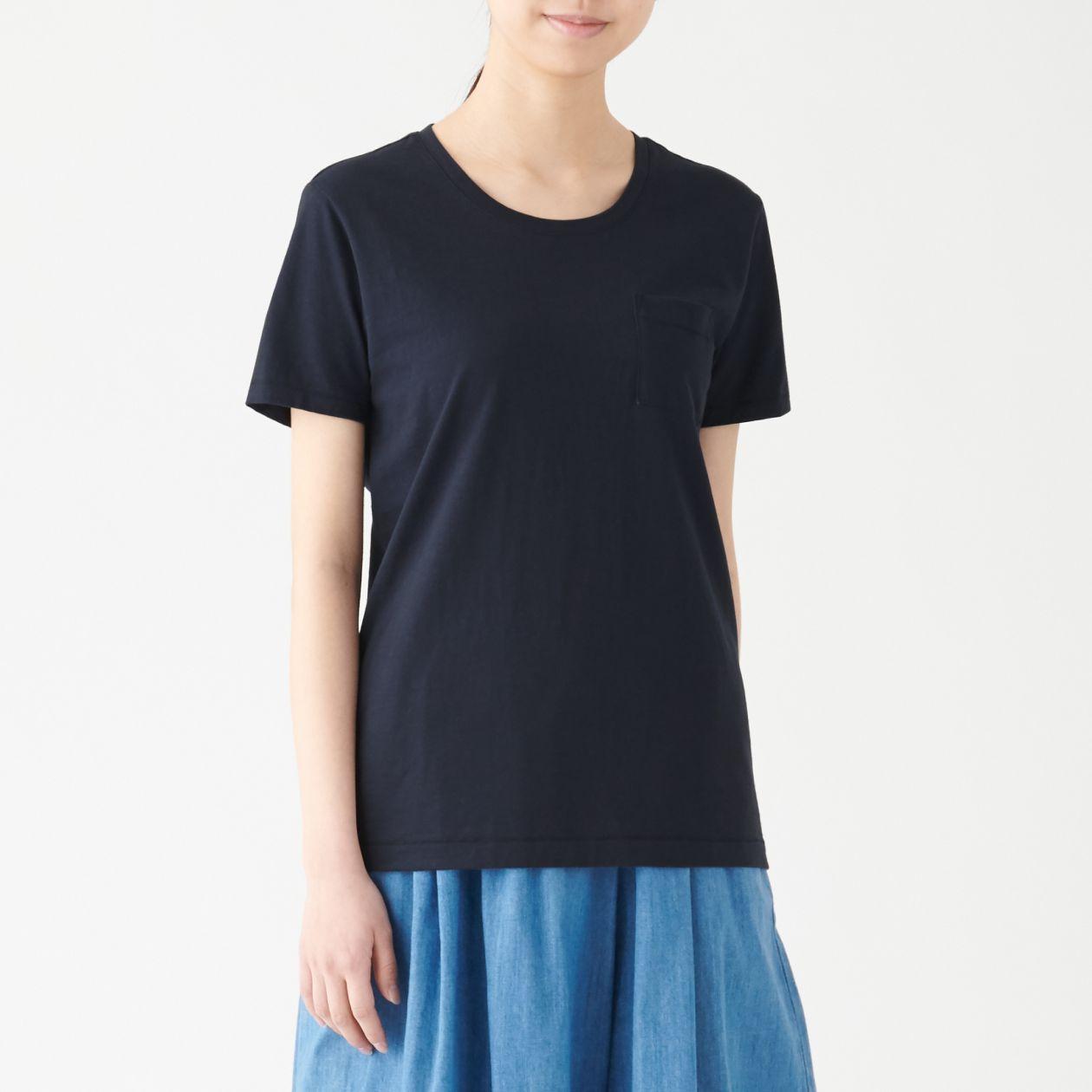 ムラ糸天竺編みクルーネック半袖Tシャツ