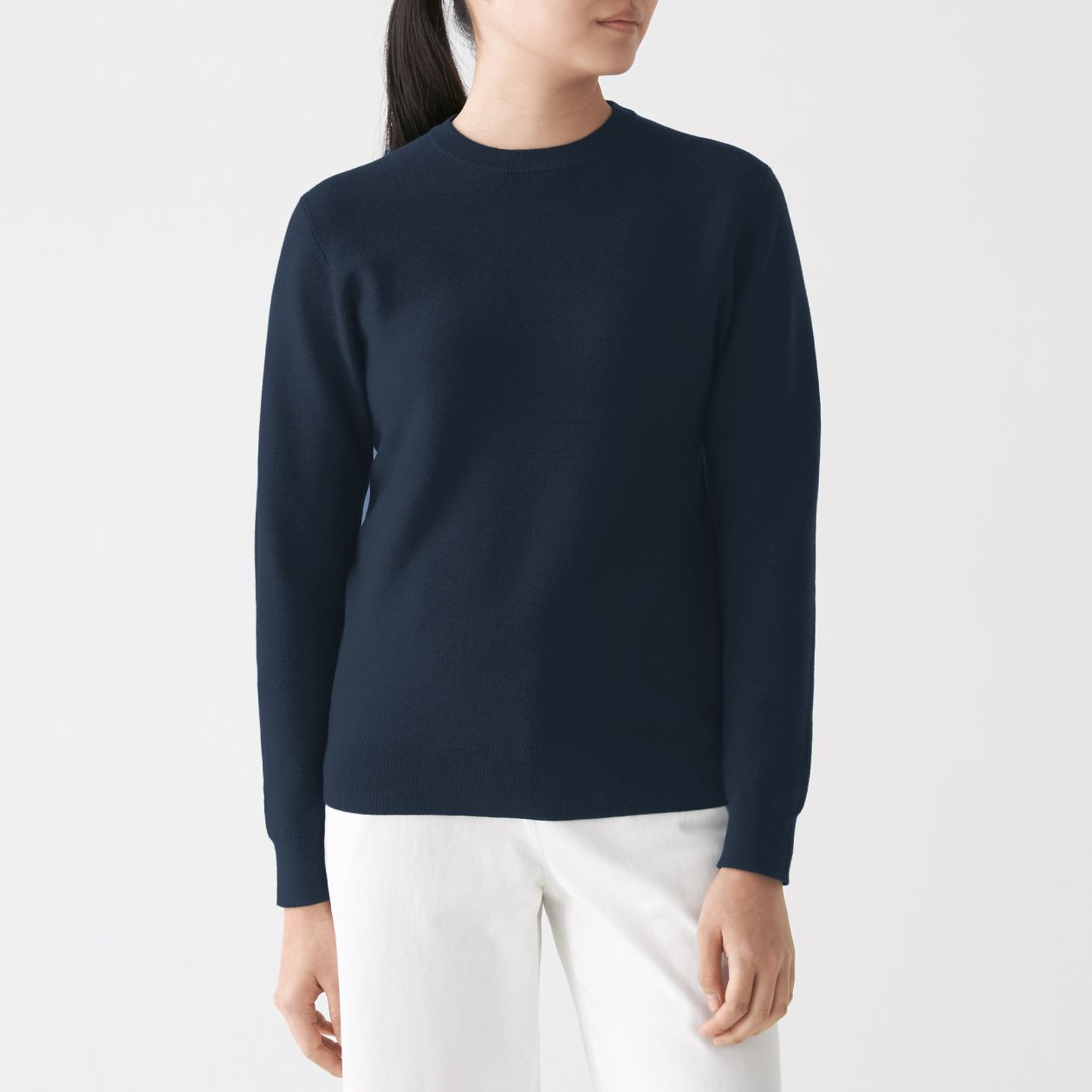 82ad69ec5 Ladies' Organic Cotton Silk Crew Neck Sweater   無印良品 MUJI