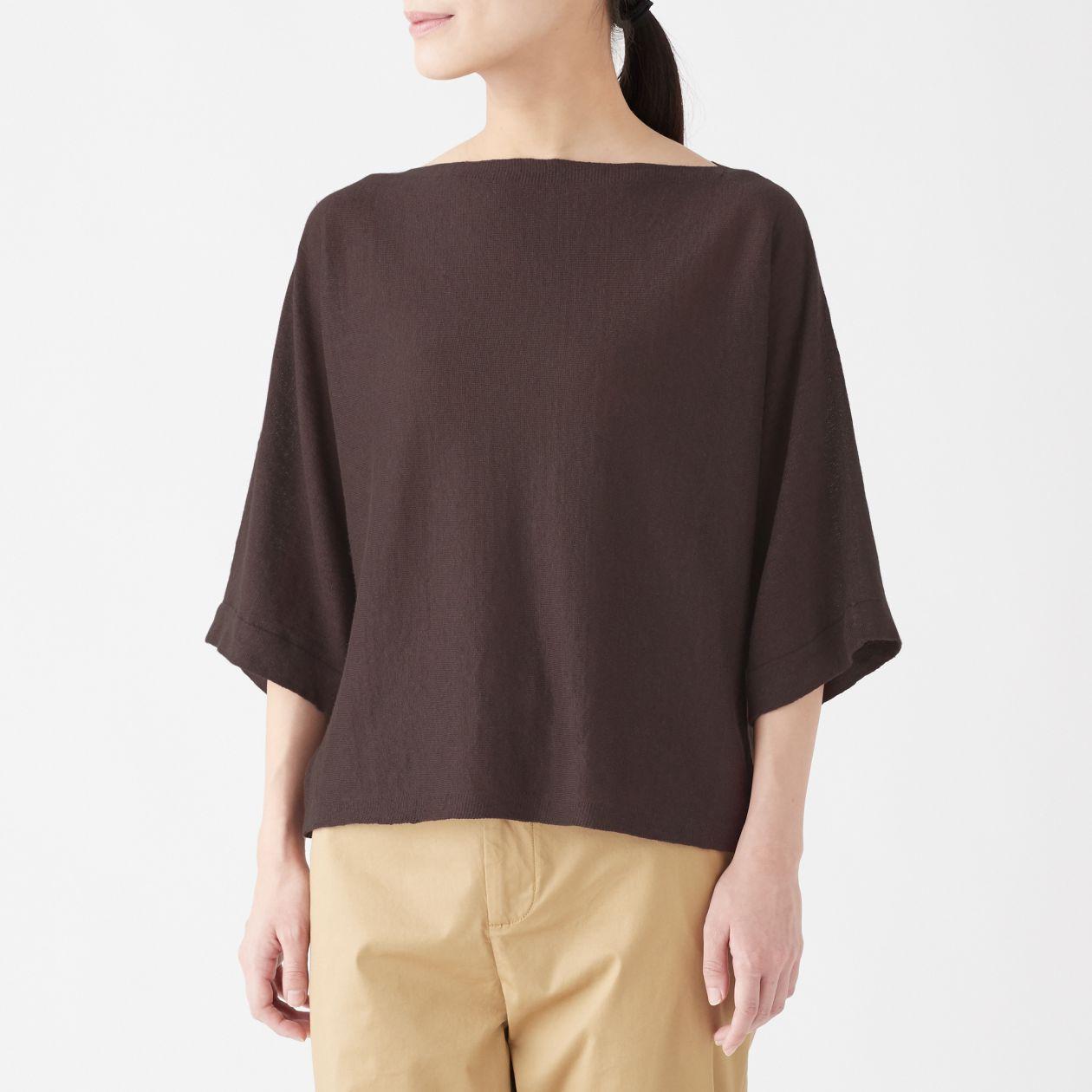 UVカットフレンチリネンドルマンスリーブセーター