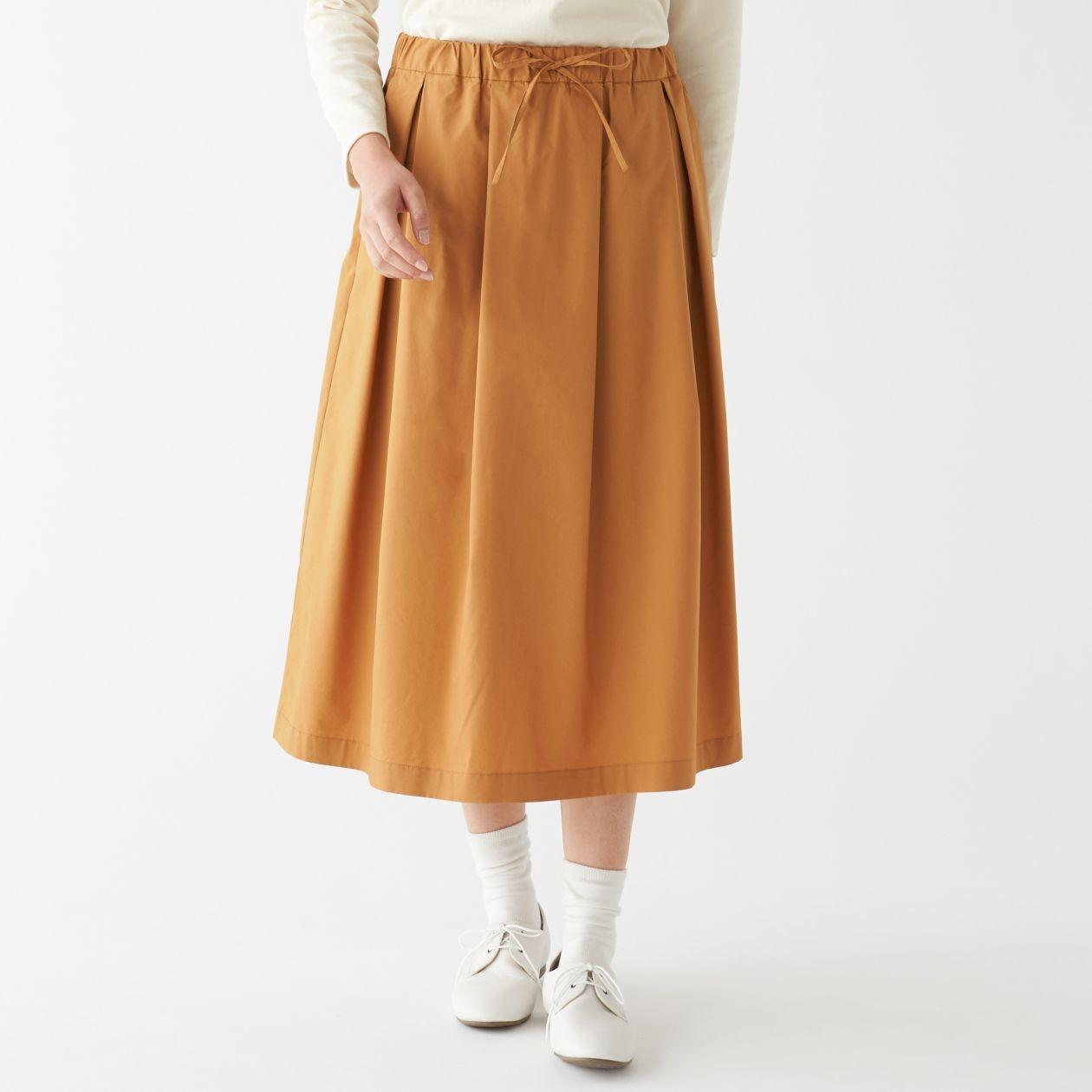 インド綿混ダンプイージーギャザースカート