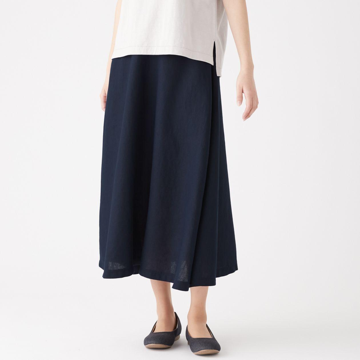 フレンチリネンイージーマキシフレアースカート