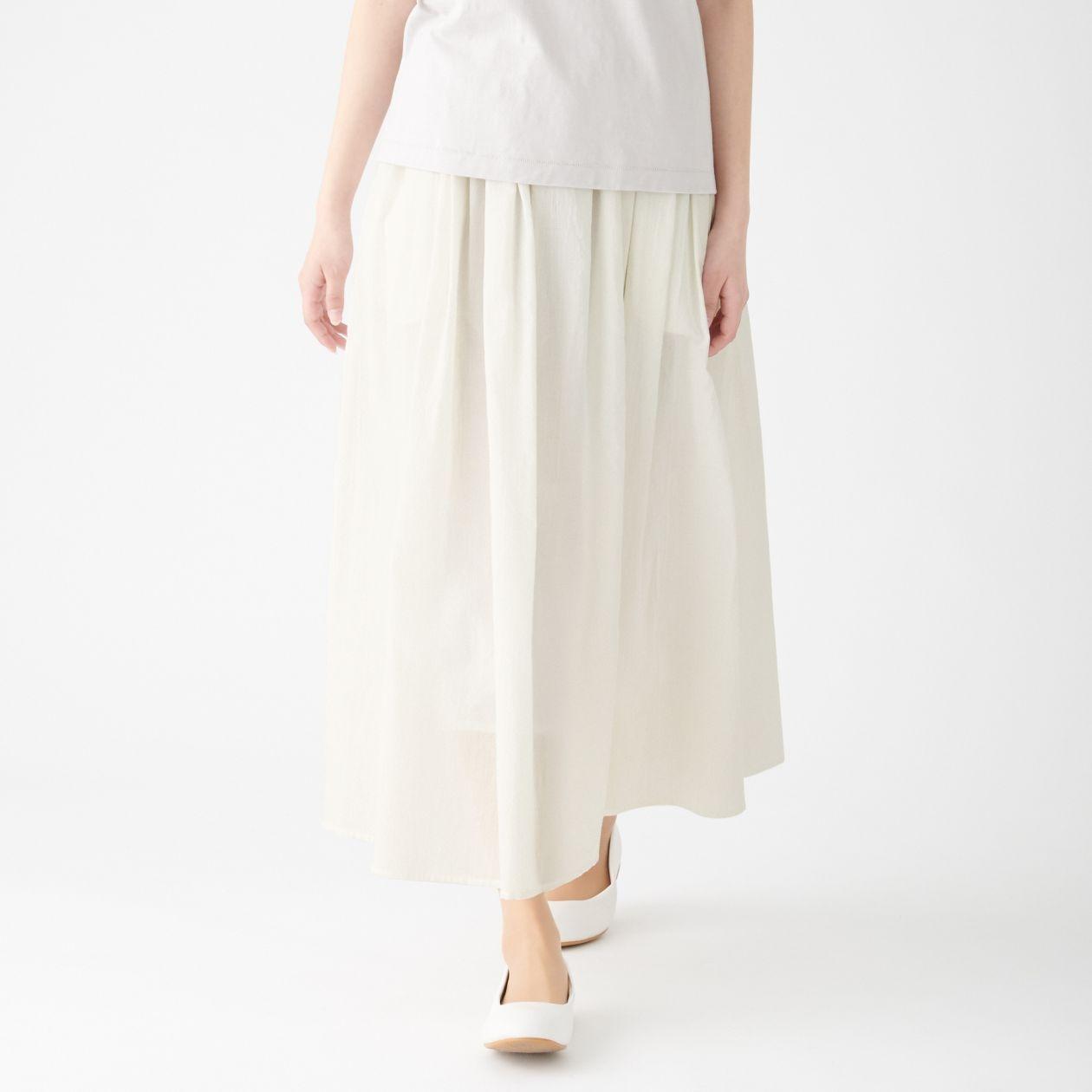 インド綿強撚イージーマキシスカート