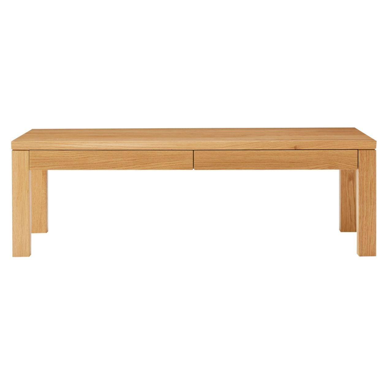 無垢材ローテーブル(引出付)・オーク材・110×55cm