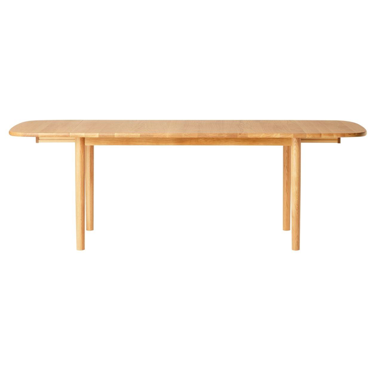 無垢材エクステンションテーブル140/220cm・楕円・オーク材