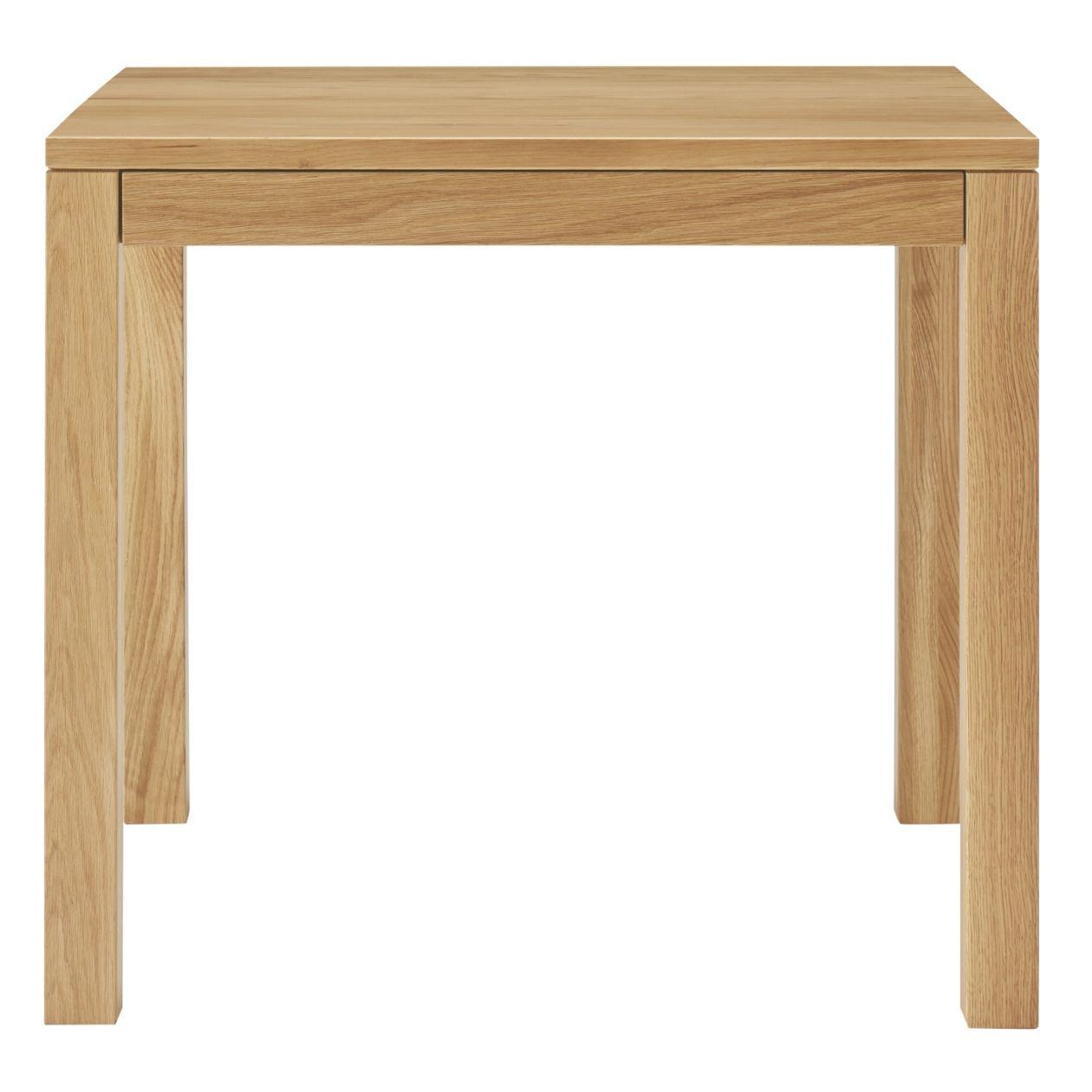 無垢材テーブル(引出付)・オーク材・幅80cm