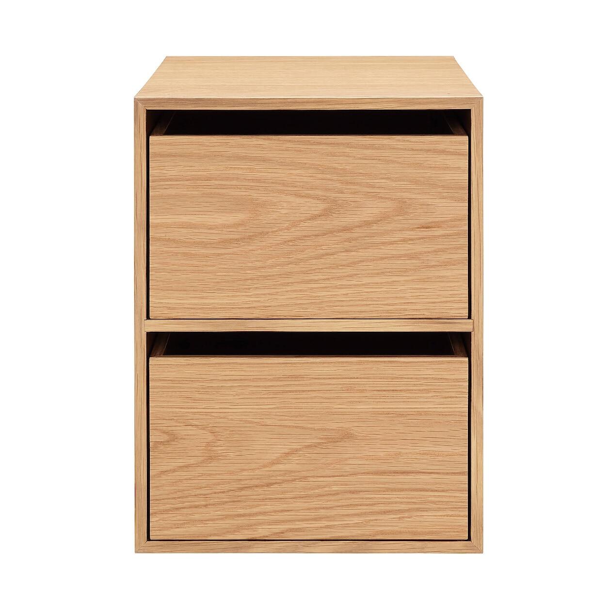 無印良品『木製収納ケース・引出式・2段・オーク材』
