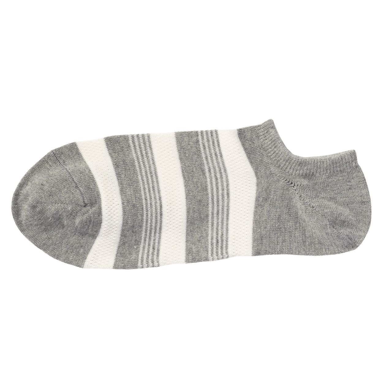 足なり直角 部分メッシュ編み スニーカーイン靴下(ボーダー/紳士・えらべる)