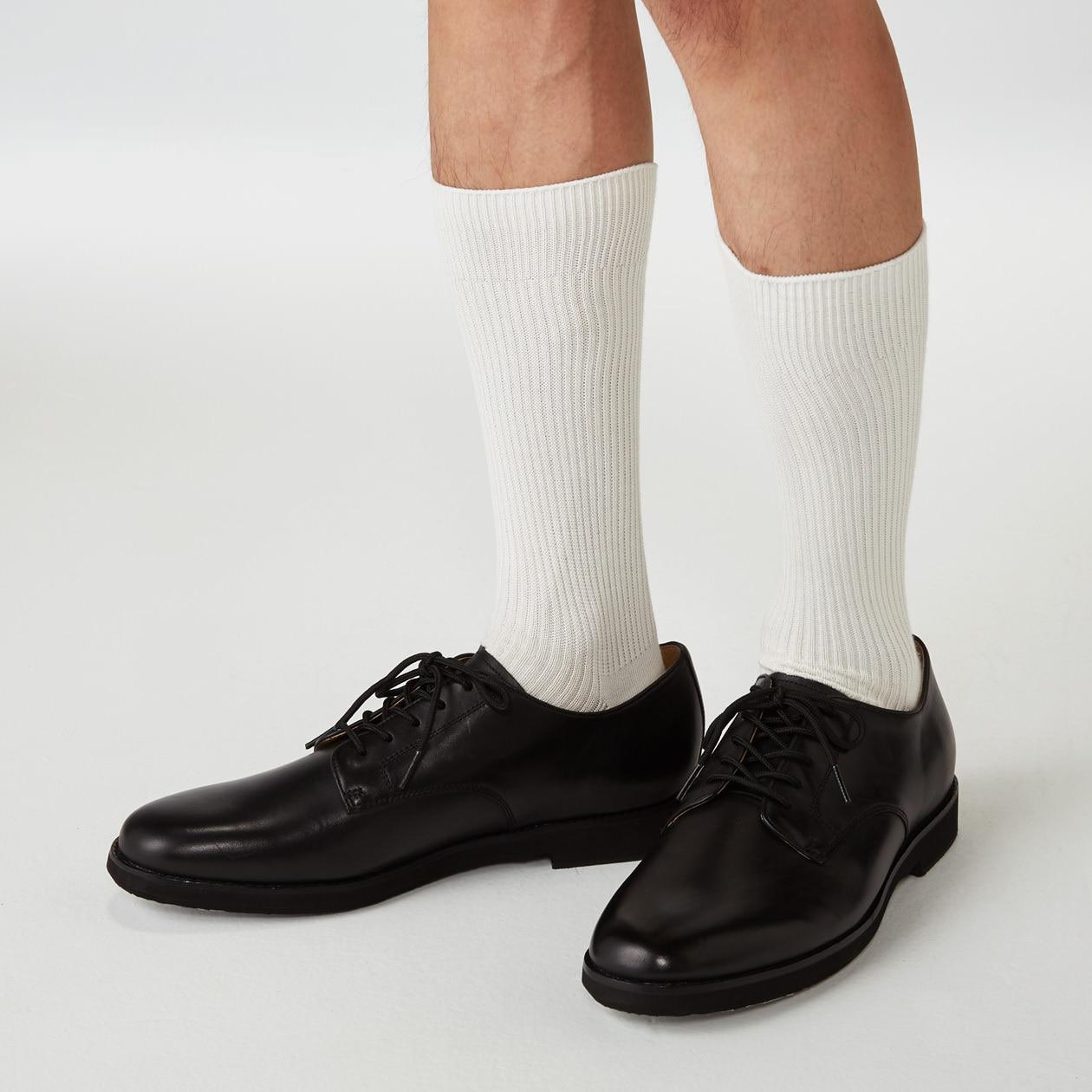 889d9ae67 Men's Organic Cotton Mix Right Angle Rib Socks | 無印良品 MUJI