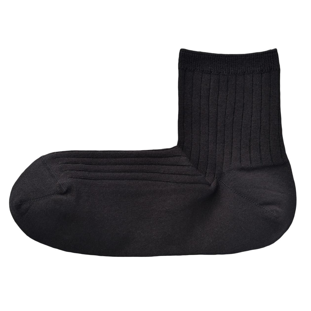 足なり直角 薄手リブ編み ショート丈靴下(婦人・えらべる)