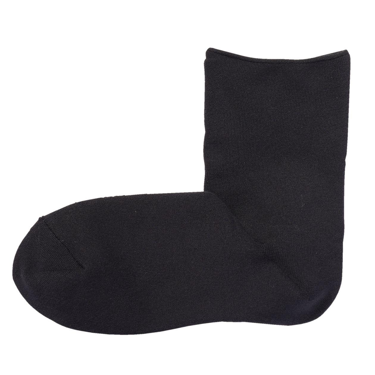 足なり直角 総パイル編み ショート丈靴下(婦人・えらべる)