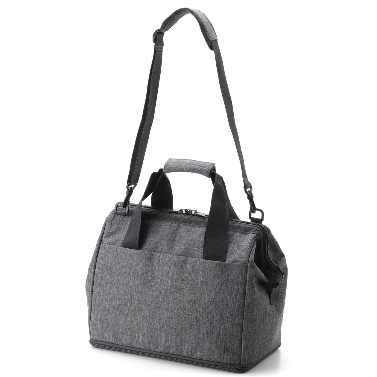 Expandable Boston Bag Gray Muji