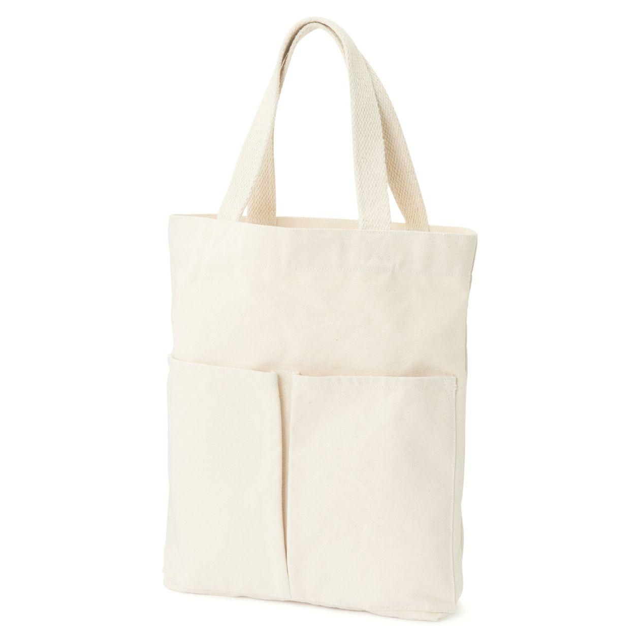 インド綿縦型マイトートバッグ