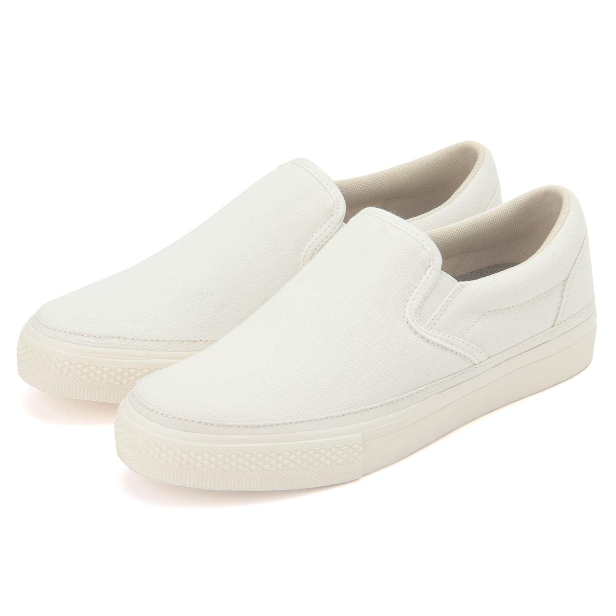 comfortable white slip on sneakers
