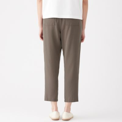 baby delicate colors lovely luster LYOCELL EASY TAPERED CROPPED TROUSERS LADY S KHAKI BEIGE | MUJI