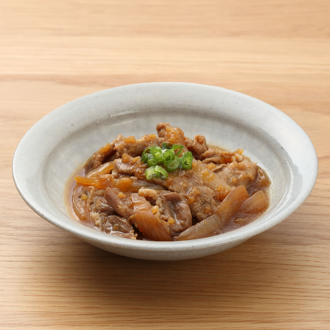 牛肉とたまねぎの生姜煮