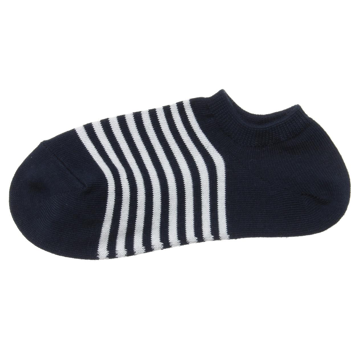 足なり直角 スニーカーイン靴下(ボーダー/婦人・えらべる)