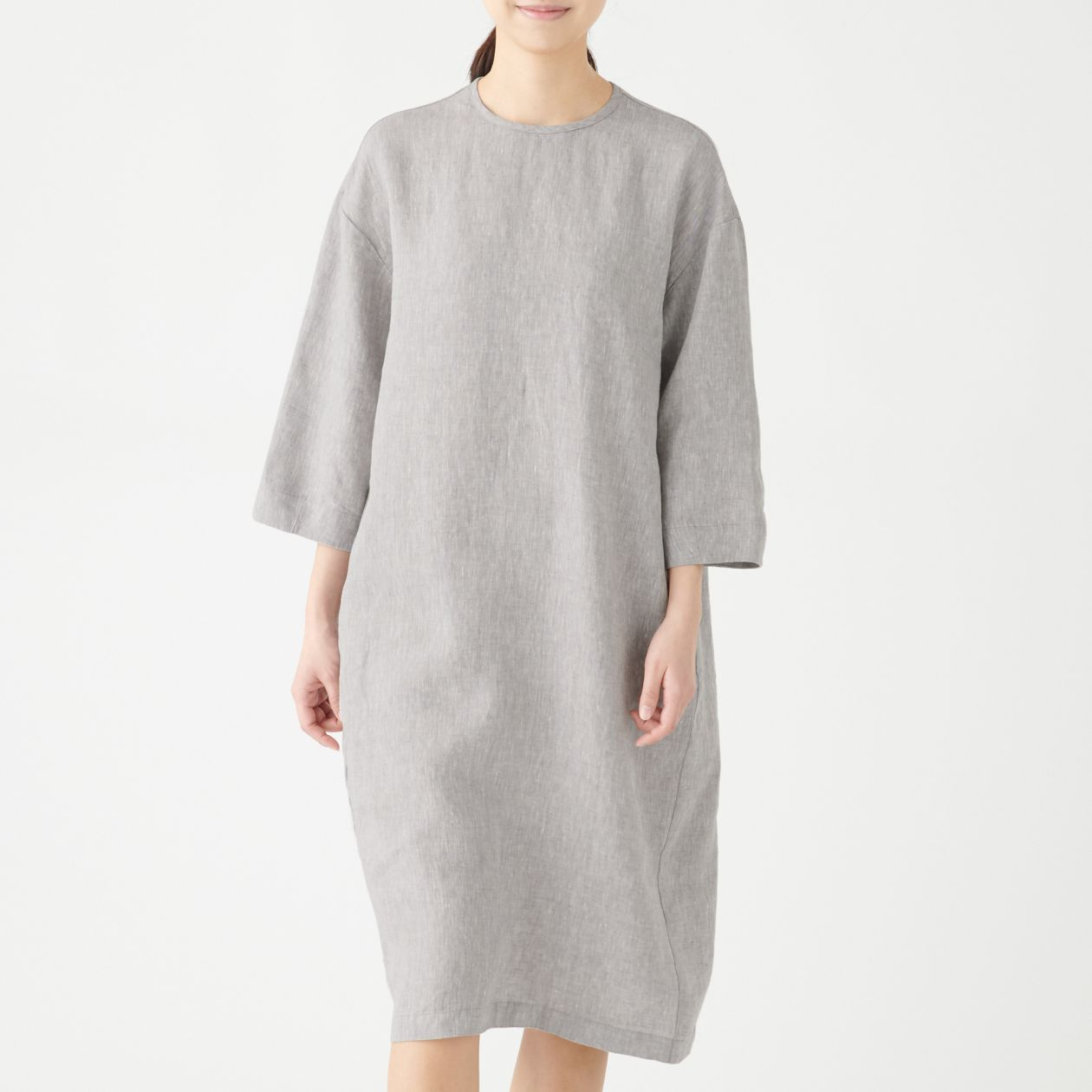 Washed DressMuji 34 French Sleeve Linen NnXOw80Pk