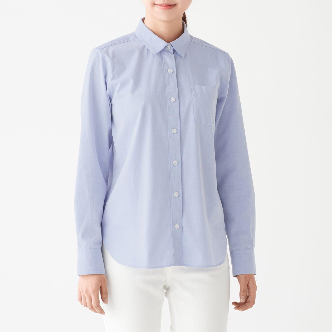 新疆綿洗いざらしブロードシャツ