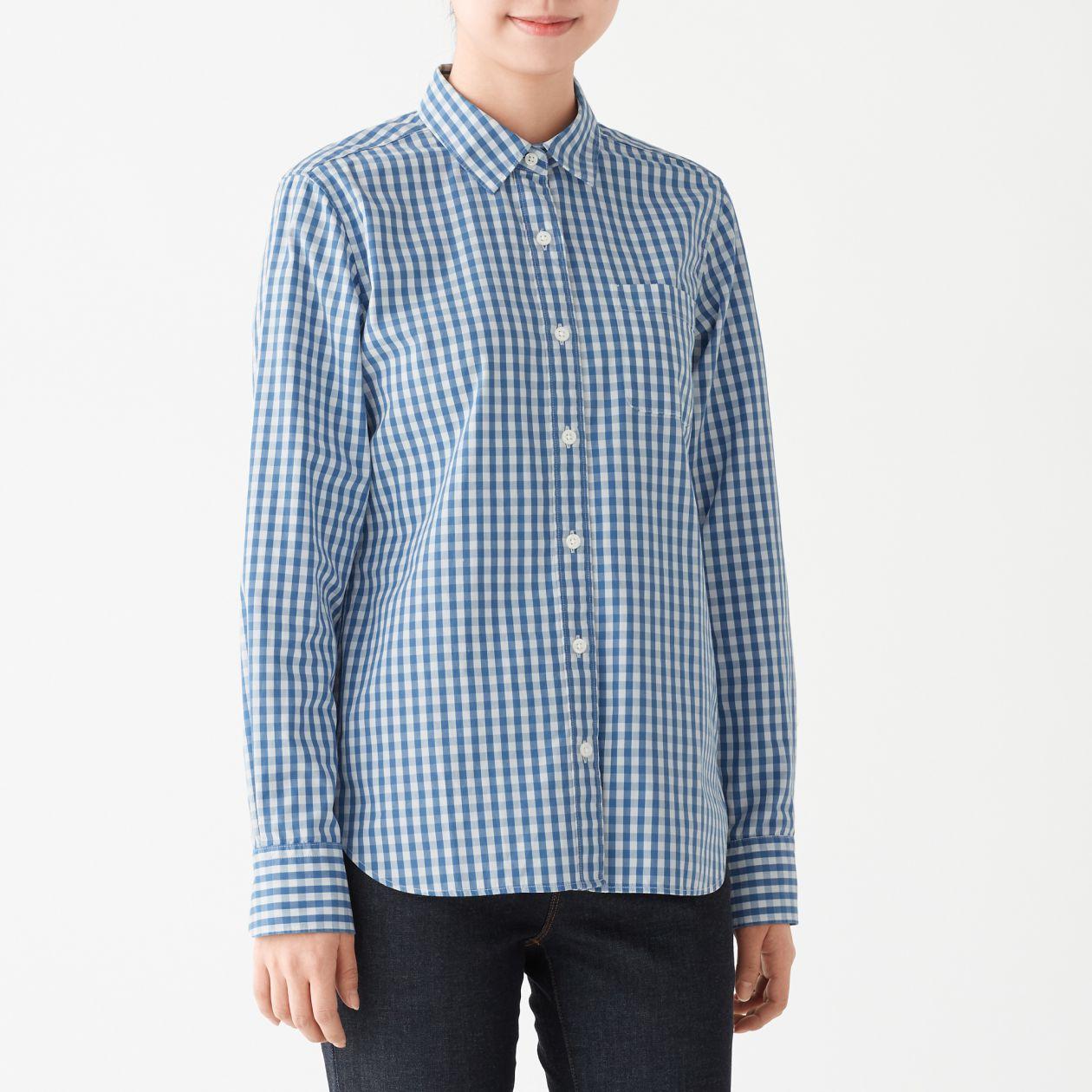 新疆綿洗いざらしブロードギンガムチェックシャツ