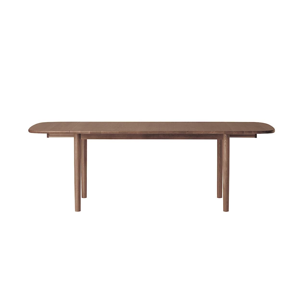 無垢材エクステンションテーブル140/220cm・楕円・ウォールナット材
