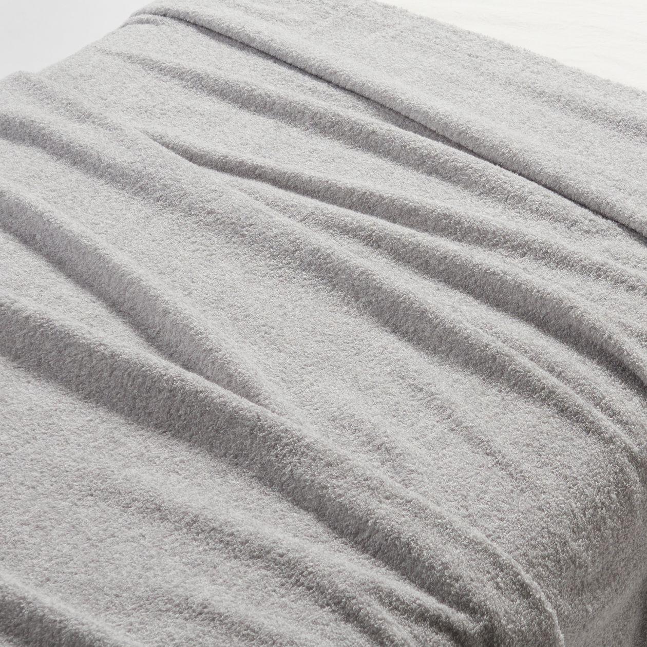 綿パイルタオルケット・S/杢ライトグレーの写真