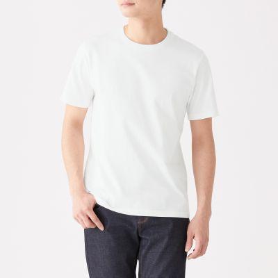 1a8bc3fe1987dd ... 綿 天竺編みクルーネック半袖Tシャツ ...
