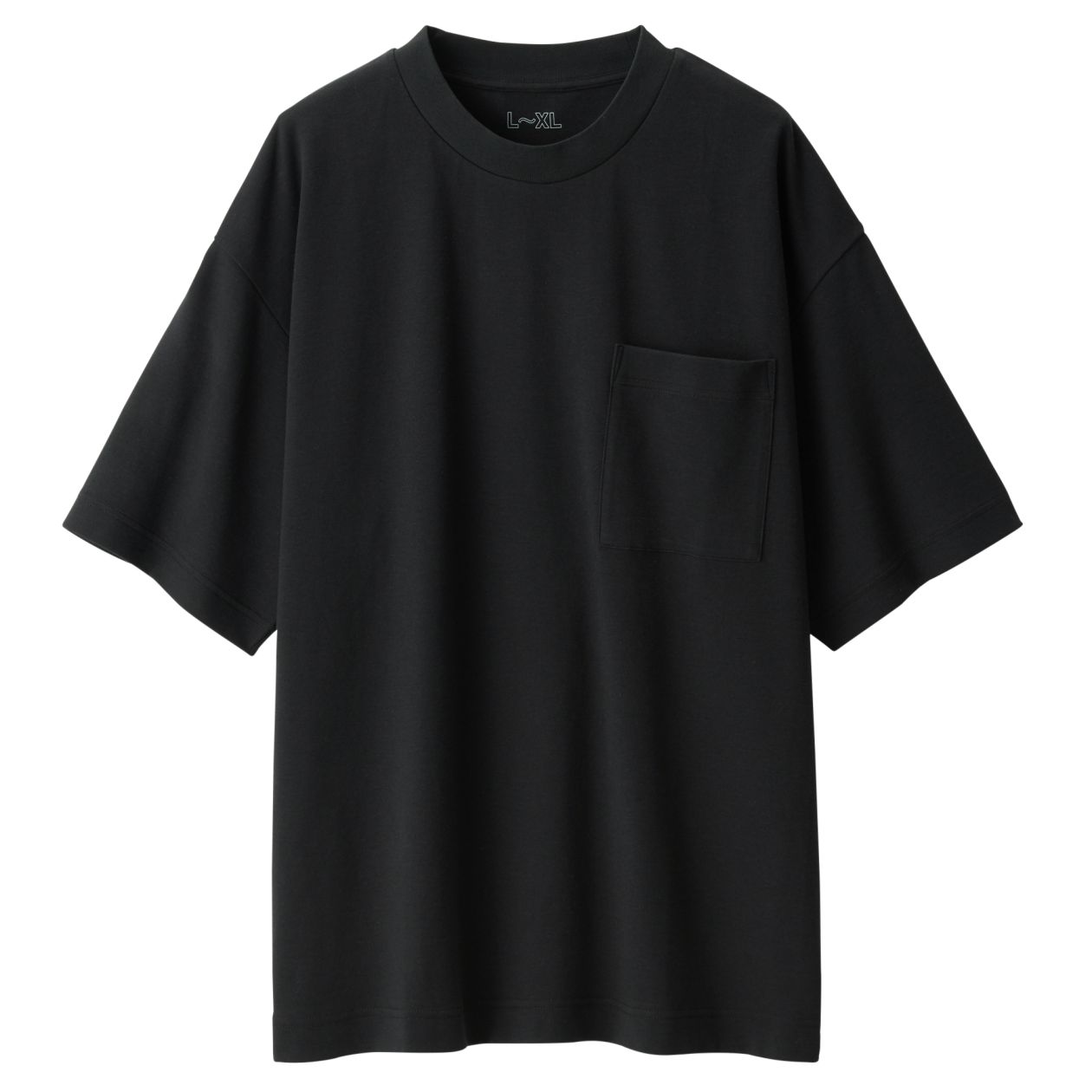 綿二重編みドロップショルダーTシャツ