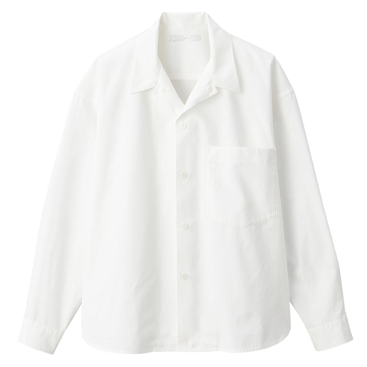 綿高密度ドロップショルダーシャツ