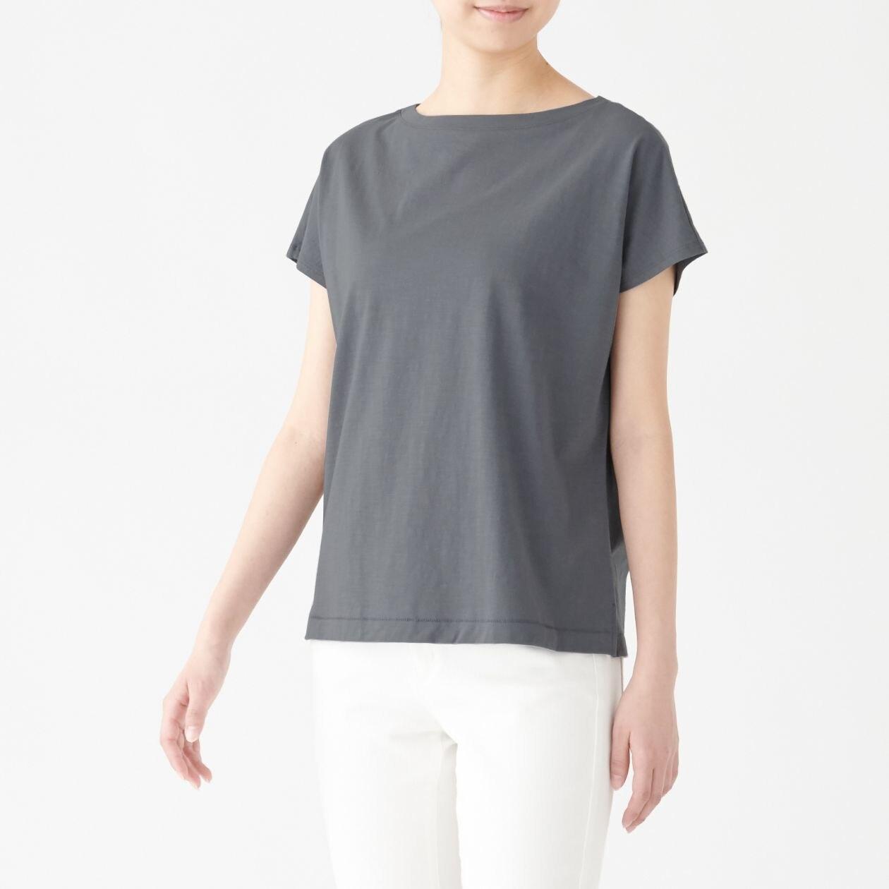 ムラ糸天竺編みフレンチスリーブTシャツ
