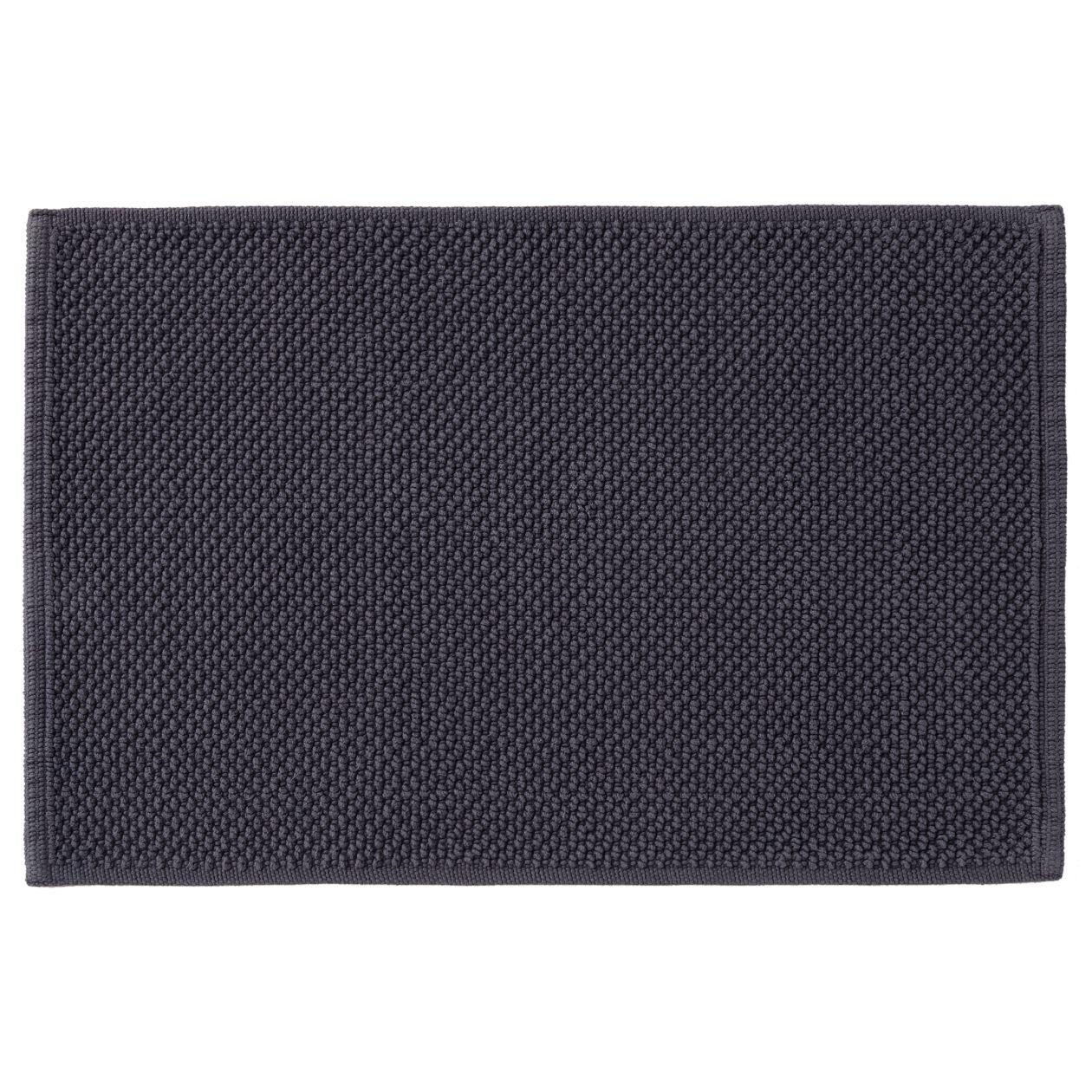 インド綿手織パイルバスマット・S/ネイビー