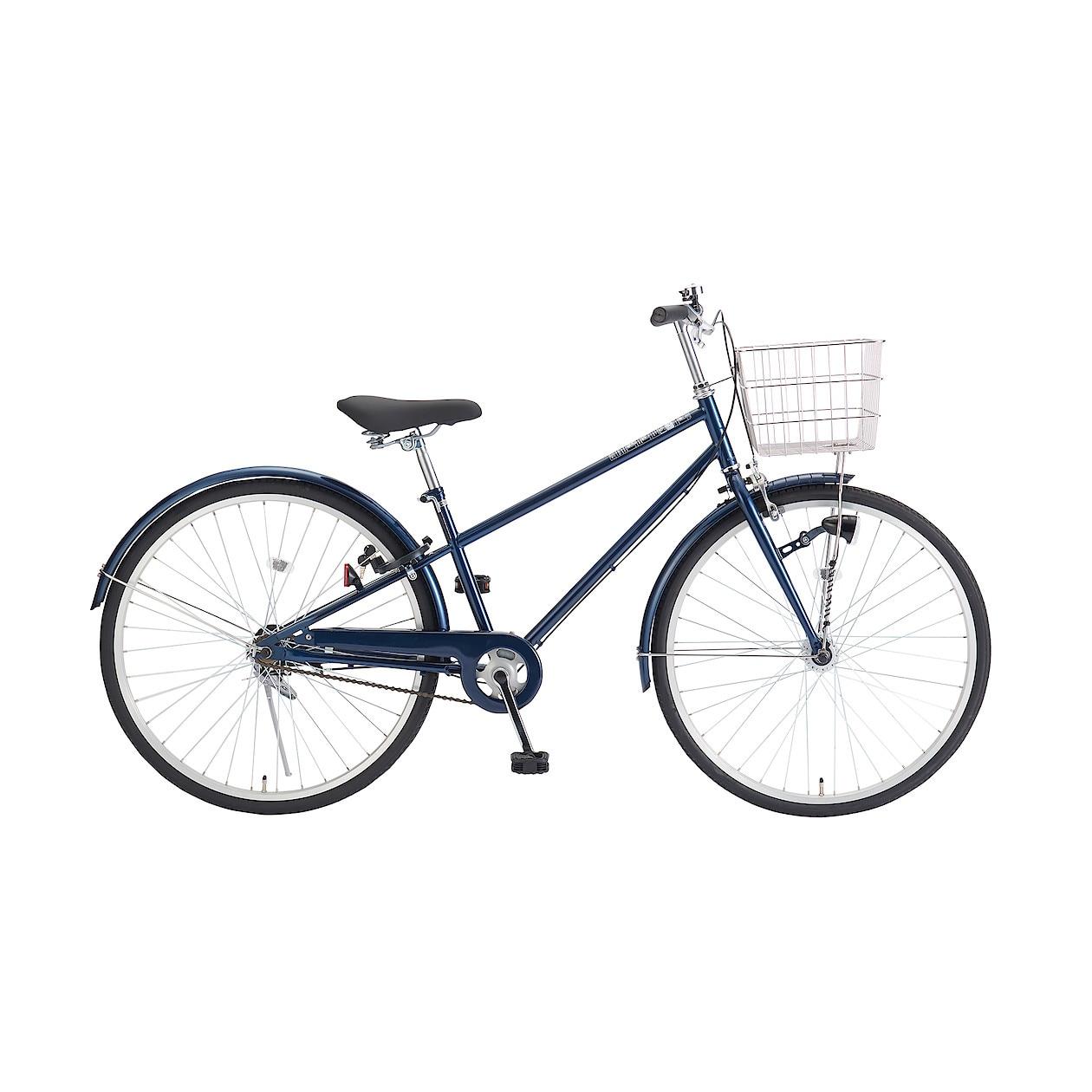 26型フル装備自転車・ネイビー