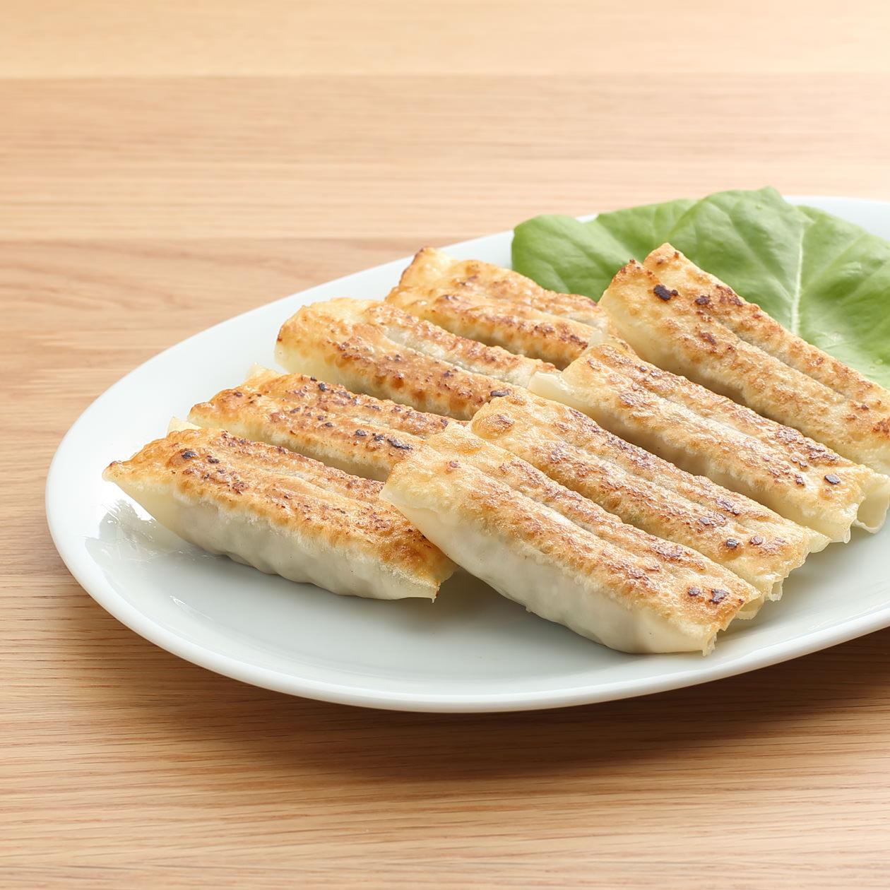 国産野菜と生姜の棒餃子