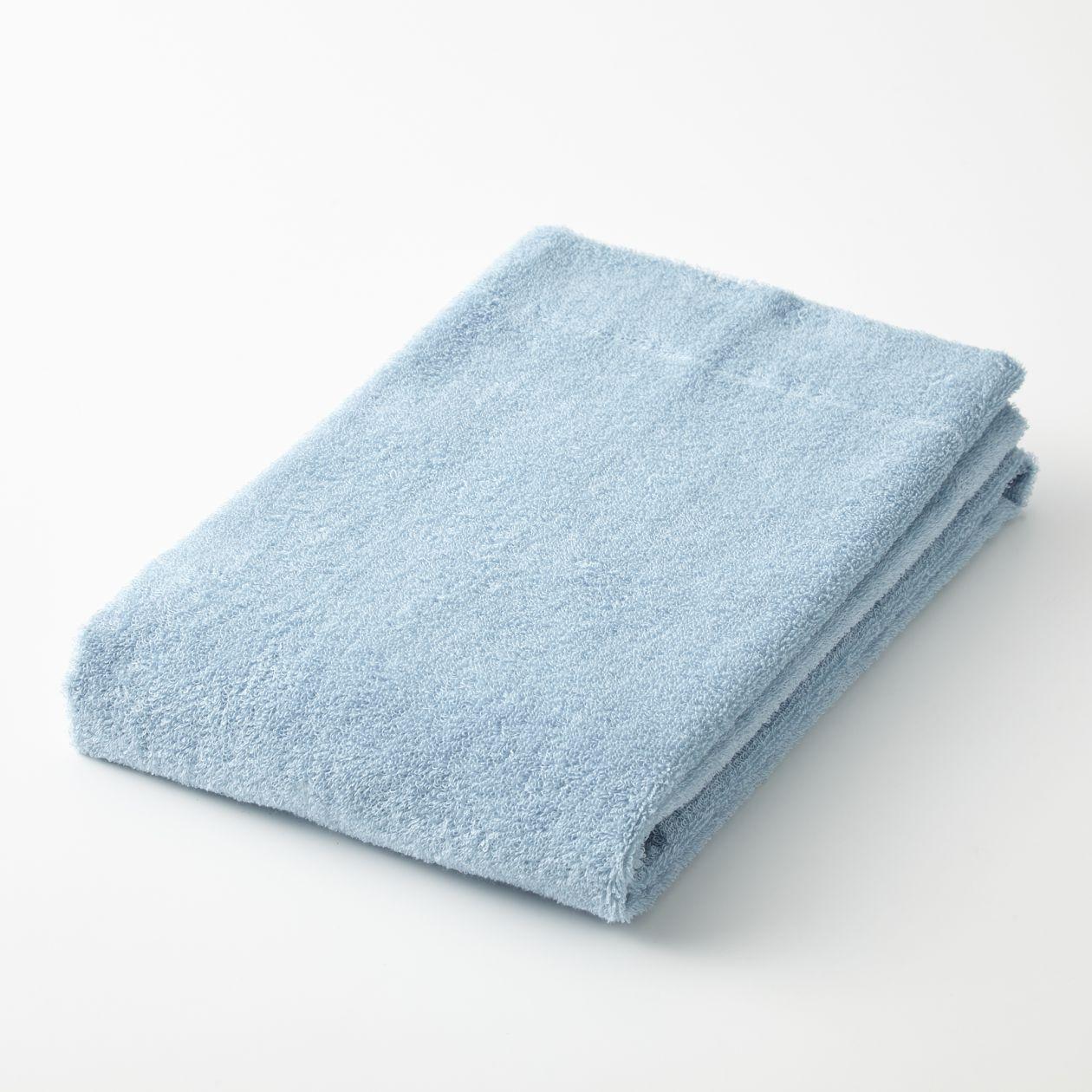 綿パイルスモールバスタオル・薄手/ブルー