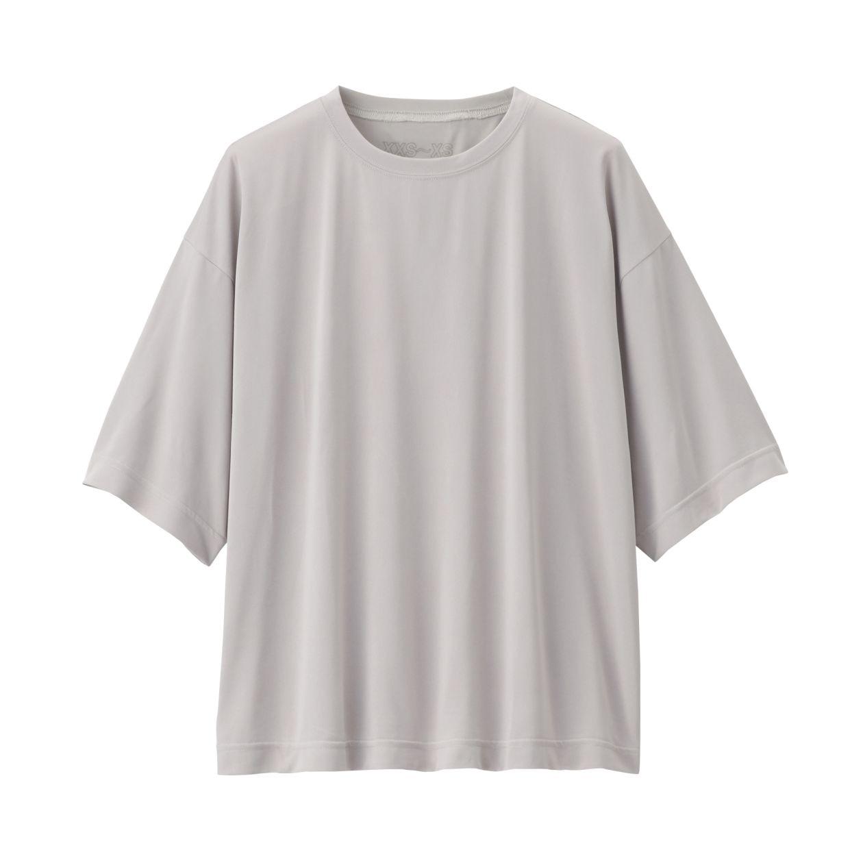 吸汗速乾UVカットドロップショルダーTシャツ