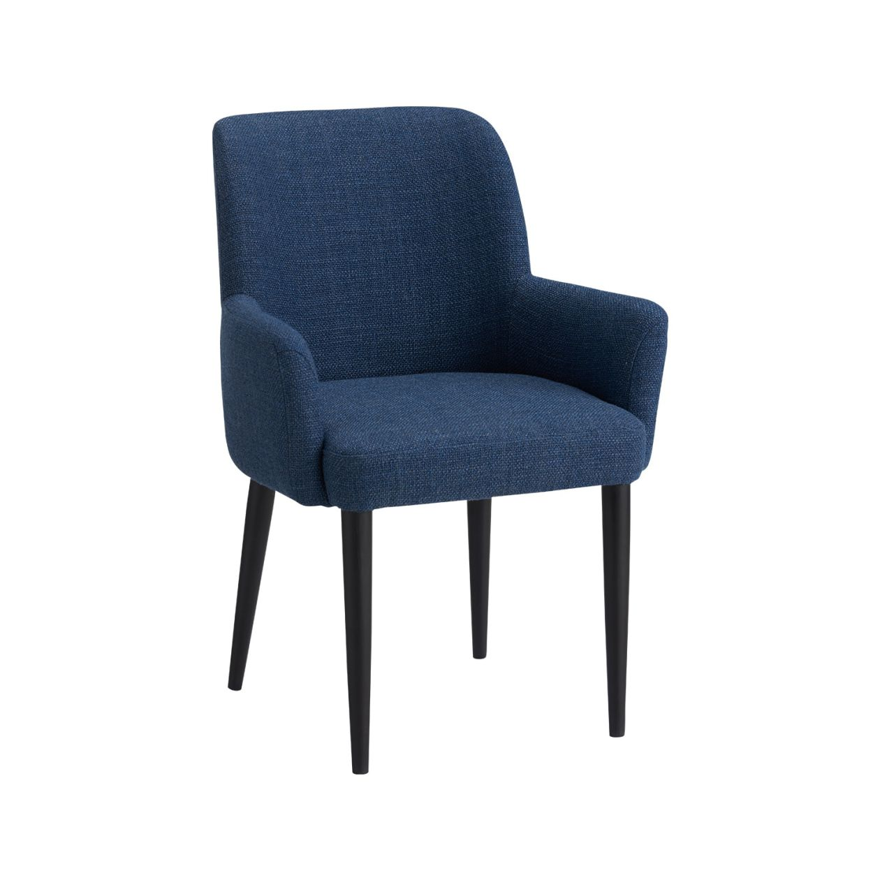 LIEVRE ARM CHAIR NAVY BK Legs