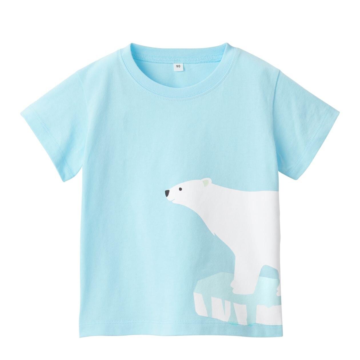 インド綿天竺編みプリントTシャツ(ベビー)