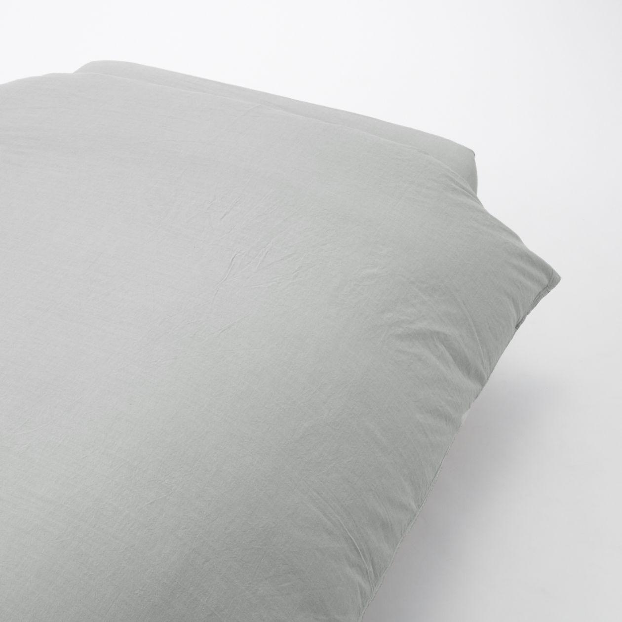 綿洗いざらし掛ふとんカバー・SD/グレー