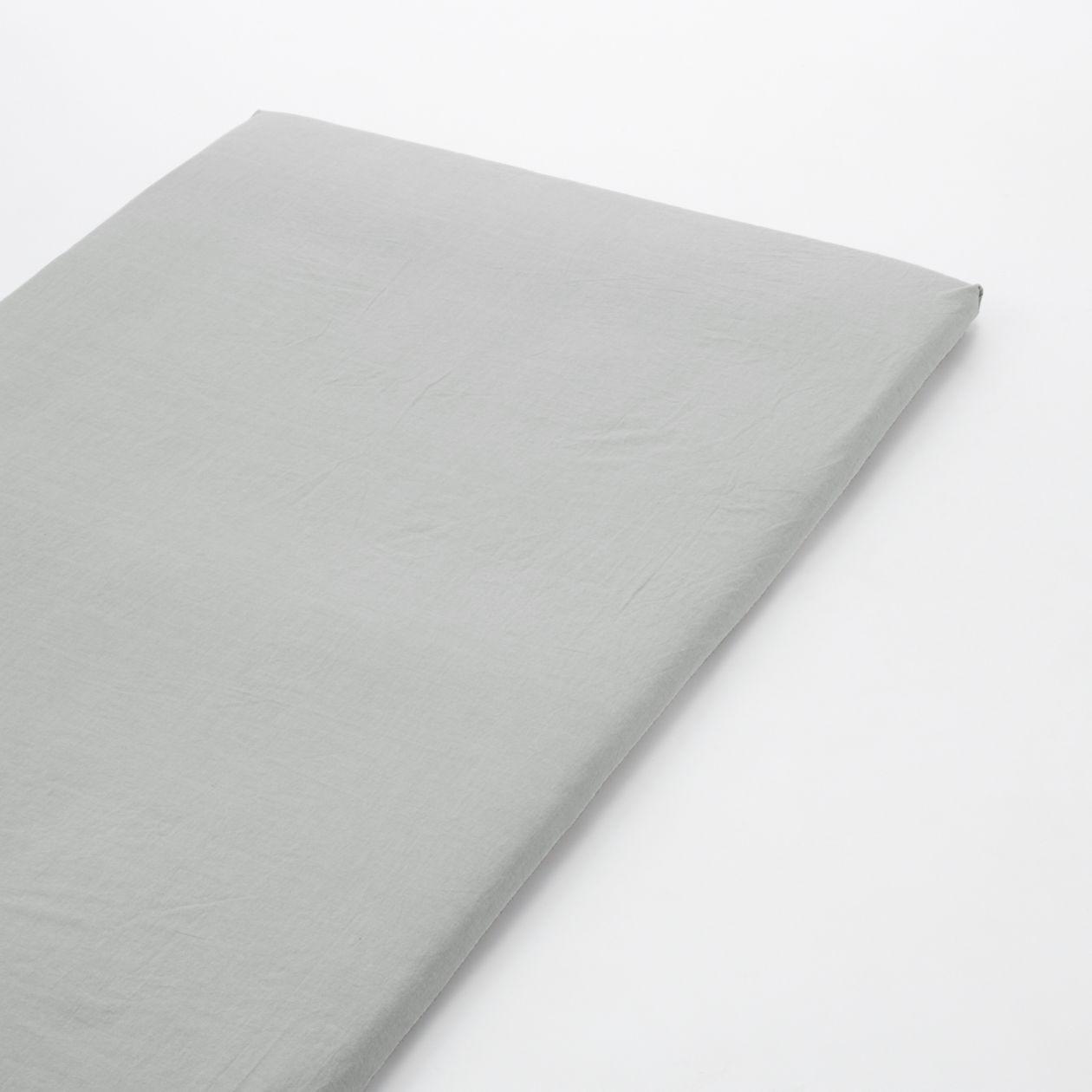 綿洗いざらし敷ふとんシーツ・ゴム付き・S/グレー