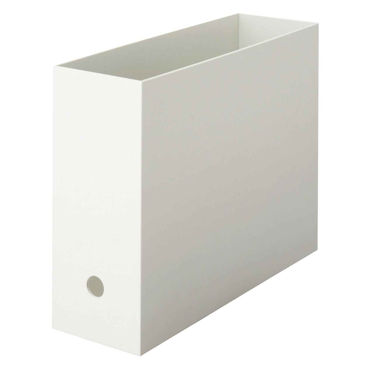 【まとめ買い】PPファイルボックス・スタンダードタイプ・A4用・ホワイトグレー