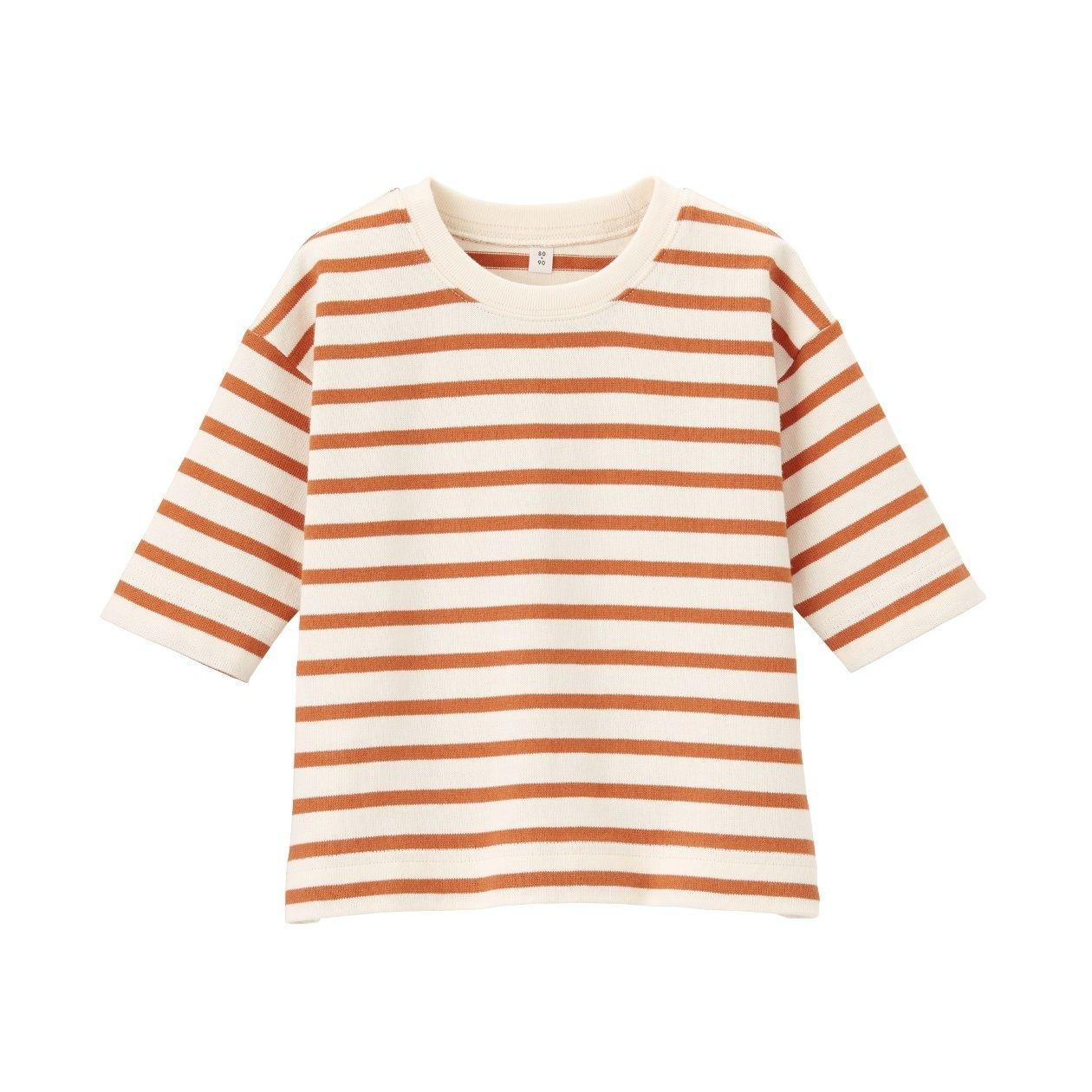 太番手ビッグシルエット 七分袖Tシャツ(ベビー)