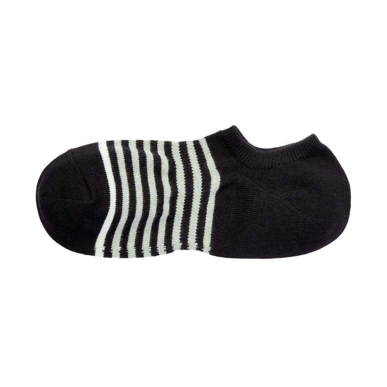 足なり直角 スニーカーイン靴下(ボーダー/紳士・えらべる)