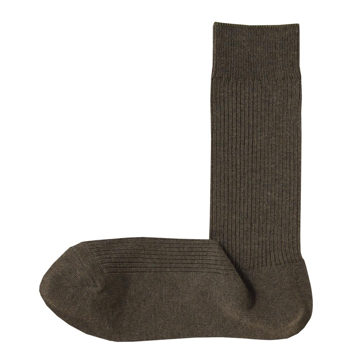 足なり直角 リブ編み 靴下(紳士・えらべる)