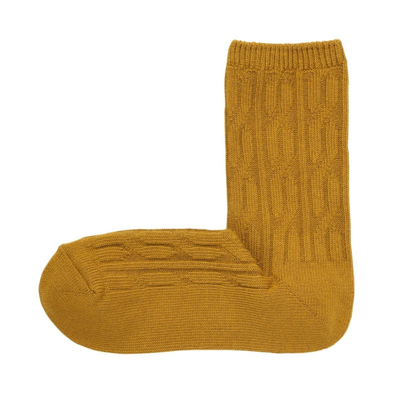 足なり直角 ケーブル編み 靴下(婦人・えらべる)