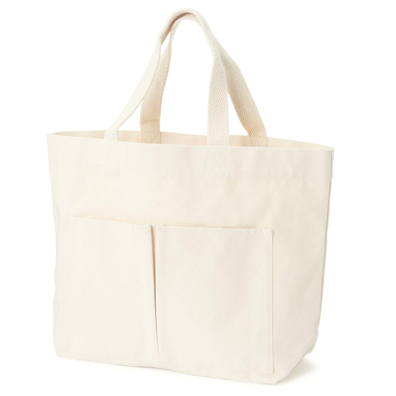 インド綿横型マイトートバッグ